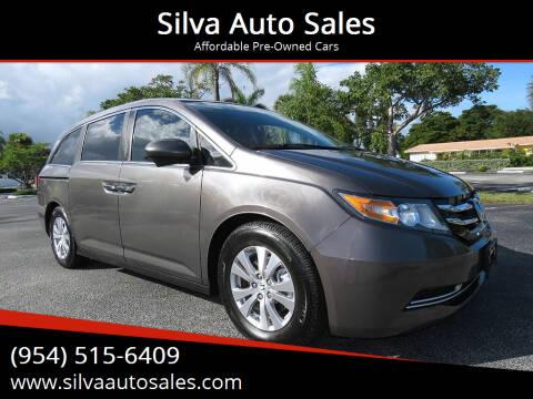 2014 Honda Odyssey for sale at Silva Auto Sales in Pompano Beach FL