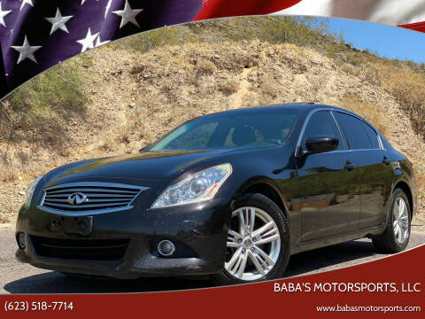2012 Infiniti G37 Sedan for sale at Baba's Motorsports, LLC in Phoenix AZ