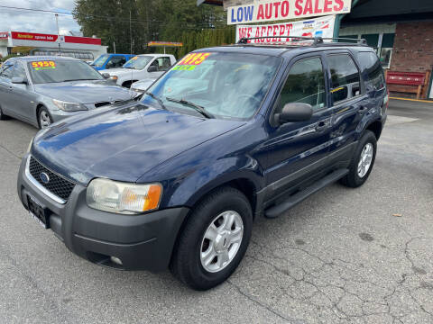 2003 Ford Escape for sale at Low Auto Sales in Sedro Woolley WA