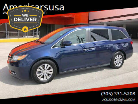 2015 Honda Odyssey for sale at Americarsusa in Hollywood FL