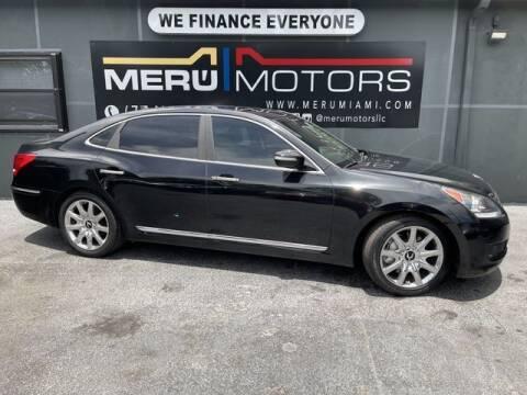 2012 Hyundai Equus for sale at Meru Motors in Hollywood FL