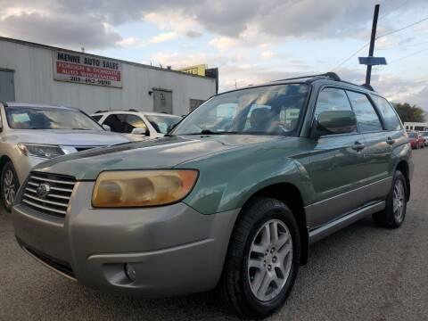 2006 Subaru Forester for sale at MENNE AUTO SALES LLC in Hasbrouck Heights NJ