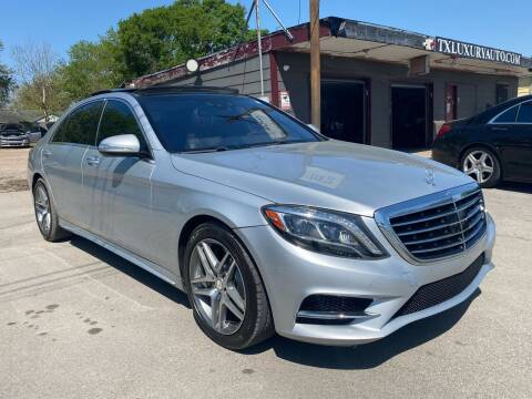 2014 Mercedes-Benz S-Class for sale at Texas Luxury Auto in Houston TX