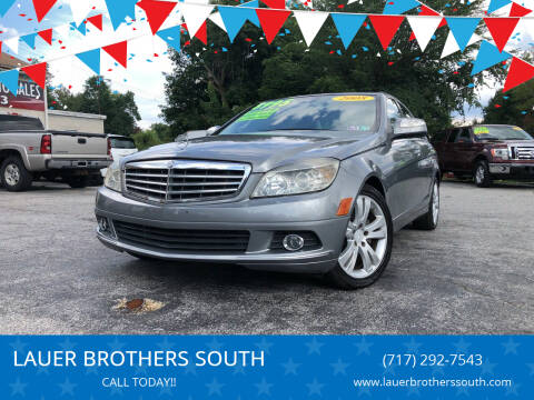 2008 Mercedes-Benz C-Class for sale at LAUER BROTHERS SOUTH in York PA