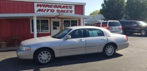 2011 Lincoln Town Car for sale at WIREGRASS AUTO SALES in Dothan AL