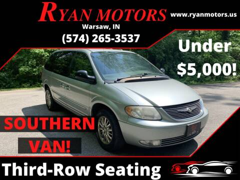 2003 Chrysler Town and Country for sale at Ryan Motors LLC in Warsaw IN