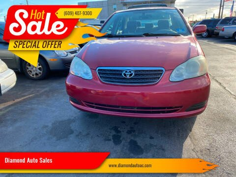 2006 Toyota Corolla for sale at Diamond Auto Sales in Pleasantville NJ