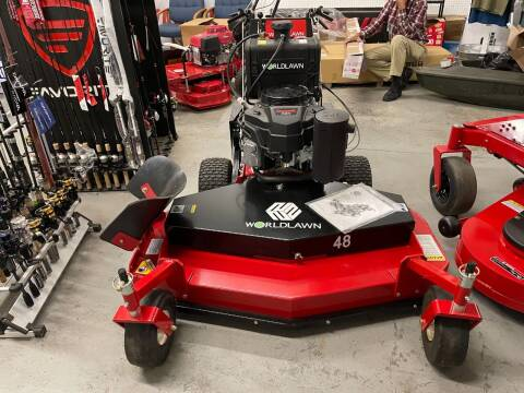 2021 WorldLawn 48 Inch Belt Driven WalkBehind for sale at Southside Outdoors in Turbeville SC