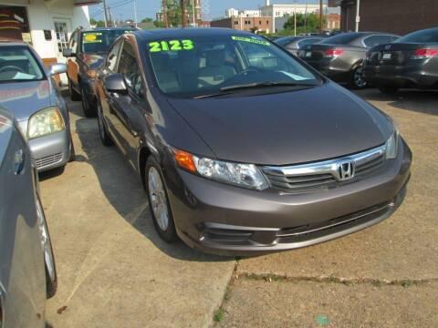 2012 Honda Civic for sale at Downtown Motors in Macon GA