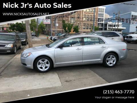 2012 Chevrolet Malibu for sale at Nick Jr's Auto Sales in Philadelphia PA