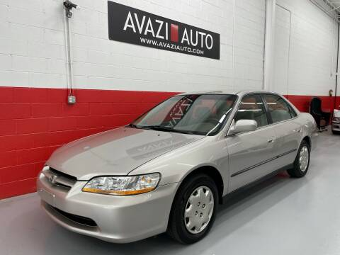 1998 Honda Accord for sale at AVAZI AUTO GROUP LLC in Gaithersburg MD
