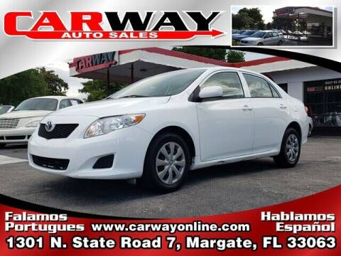 2010 Toyota Corolla for sale at CARWAY Auto Sales in Margate FL