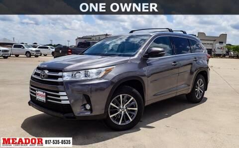2017 Toyota Highlander for sale at Meador Dodge Chrysler Jeep RAM in Fort Worth TX