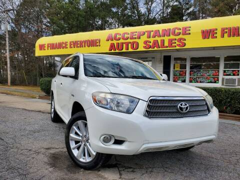 2008 Toyota Highlander Hybrid for sale at Acceptance Auto Sales in Marietta GA