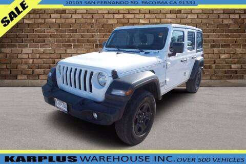 2018 Jeep Wrangler Unlimited for sale at Karplus Warehouse in Pacoima CA