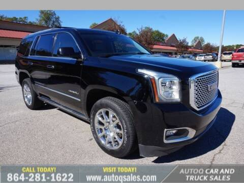 2015 GMC Yukon for sale at Auto Q Car and Truck Sales in Mauldin SC