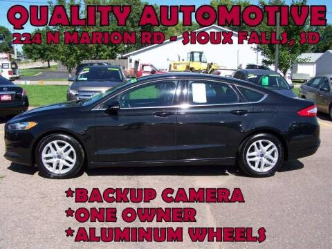 2015 Ford Fusion for sale at Quality Automotive in Sioux Falls SD