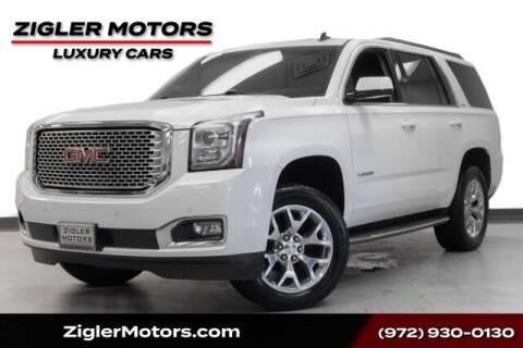 2015 GMC Yukon for sale at Zigler Motors in Addison TX