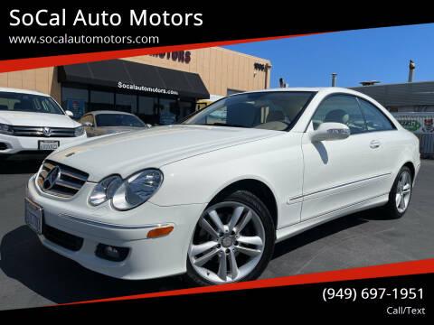 2008 Mercedes-Benz CLK for sale at SoCal Auto Motors in Costa Mesa CA