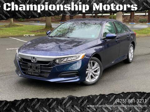 2018 Honda Accord for sale at Championship Motors in Redmond WA