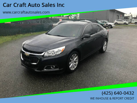 2015 Chevrolet Malibu for sale at Car Craft Auto Sales Inc in Lynnwood WA