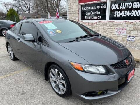 2012 Honda Civic for sale at GOL Auto Group in Austin TX