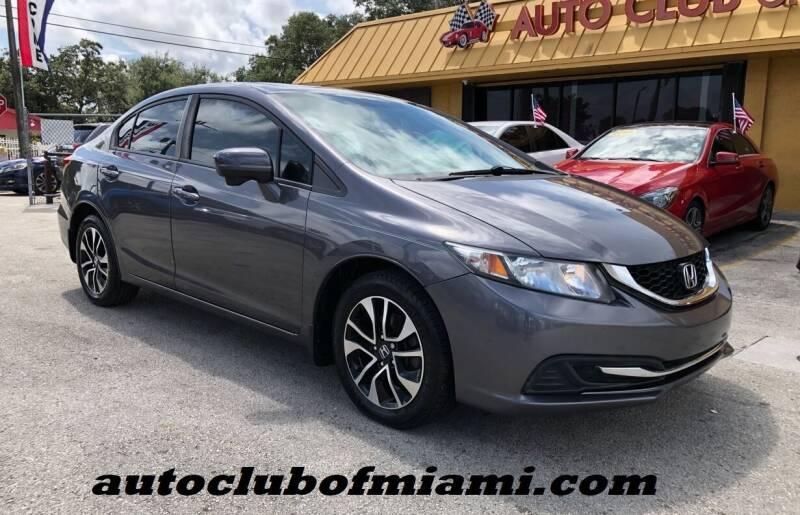 2015 Honda Civic for sale at AUTO CLUB OF MIAMI, INC in Miami FL
