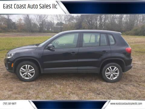 2013 Volkswagen Tiguan for sale at East Coast Auto Sales llc in Virginia Beach VA