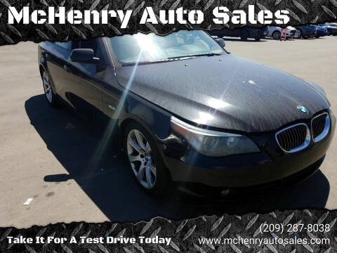 2007 BMW 5 Series for sale at McHenry Auto Sales in Modesto CA