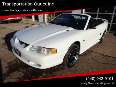 1996 Ford Mustang for sale at Transportation Outlet Inc in Eastlake OH