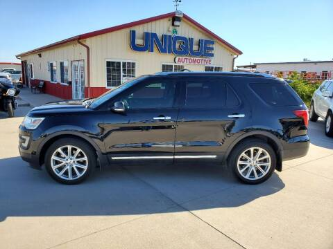 "2016 Ford Explorer for sale at UNIQUE AUTOMOTIVE ""BE UNIQUE"" in Garden City KS"