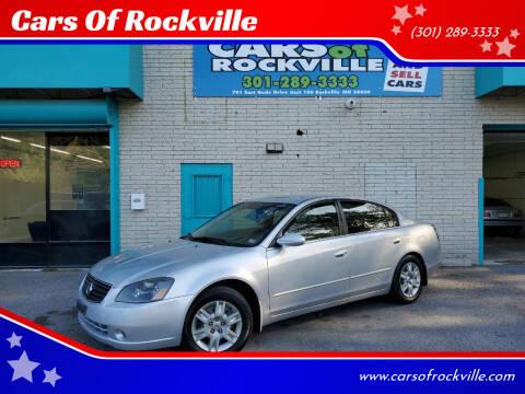 2006 Nissan Altima for sale at Cars Of Rockville in Rockville MD