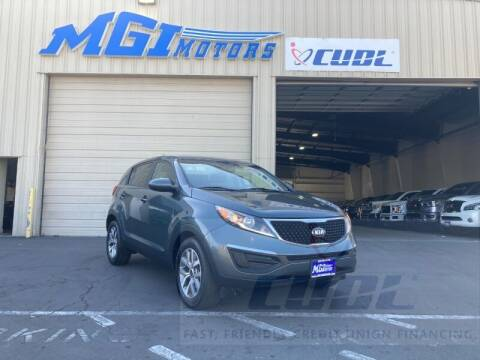 2015 Kia Sportage for sale at MGI Motors in Sacramento CA