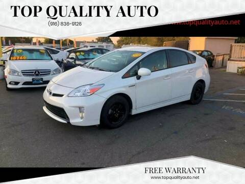 2015 Toyota Prius for sale at TOP QUALITY AUTO in Rancho Cordova CA