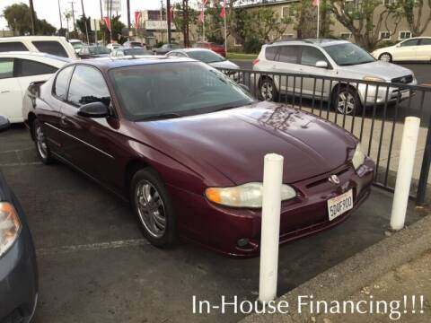 2003 Chevrolet Monte Carlo for sale at Sidney Auto Sales in Downey CA