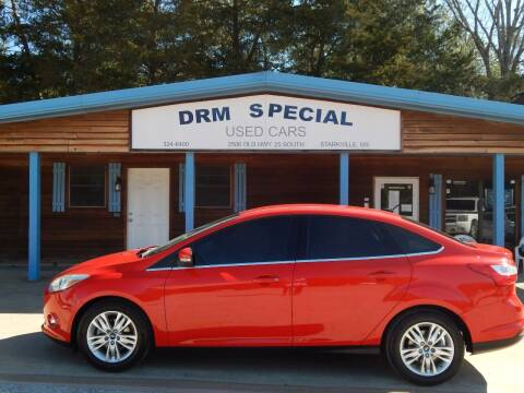 2012 Ford Focus for sale at DRM Special Used Cars in Starkville MS