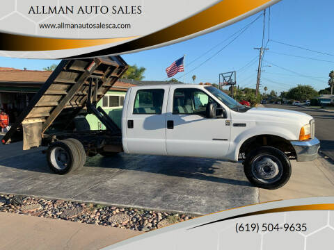 2001 Ford F-550 Super Duty for sale at ALLMAN AUTO SALES in San Diego CA