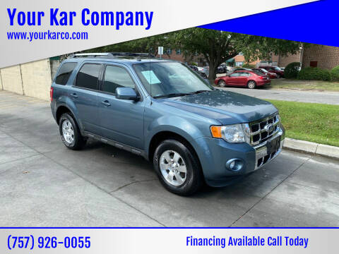 2012 Ford Escape for sale at Your Kar Company in Norfolk VA