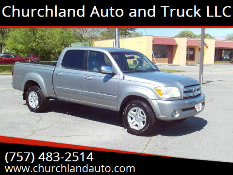 2006 Toyota Tundra for sale at Churchland Auto and Truck LLC in Portsmouth VA