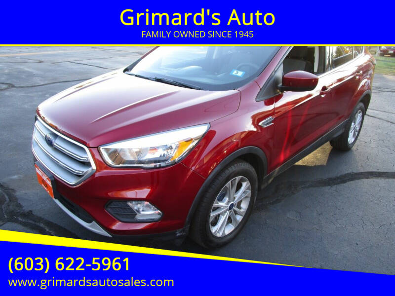 2017 Ford Escape for sale at Grimard's Auto in Hooksett, NH