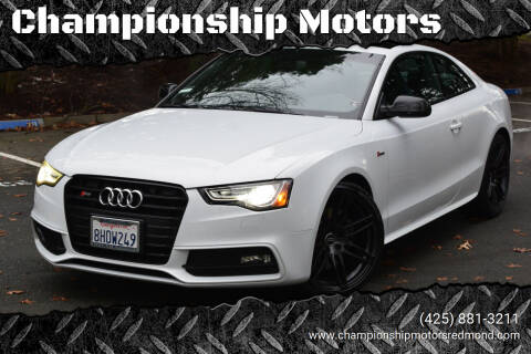 2017 Audi S5 for sale at Championship Motors in Redmond WA
