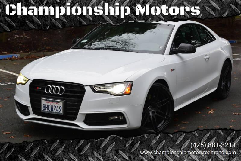 2017 Audi S5 for sale at Championship Motors in Redmond WA