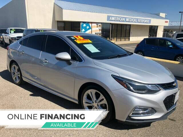 2016 Chevrolet Cruze for sale at Miracle Motor Cars Inc. in Victorville CA