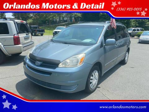 2004 Toyota Sienna for sale at Orlandos Motors & Detail in Winston Salem NC