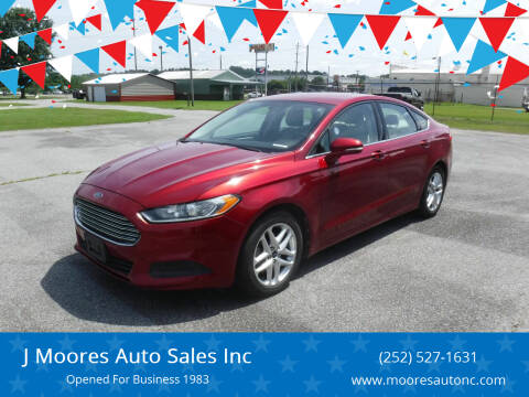 2013 Ford Fusion for sale at J Moores Auto Sales Inc in Kinston NC