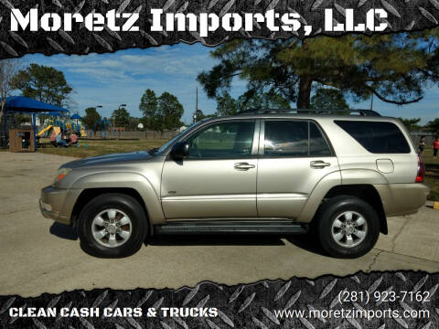 2004 Toyota 4Runner for sale at Moretz Imports, LLC in Spring TX