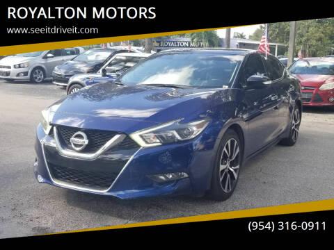 2018 Nissan Maxima for sale at ROYALTON MOTORS in Plantation FL