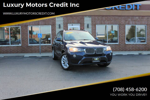 2016 BMW X3 for sale at Luxury Motors Credit Inc in Bridgeview IL