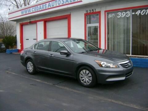 2012 Honda Accord for sale at Cedar Auto Sales in Lansing MI