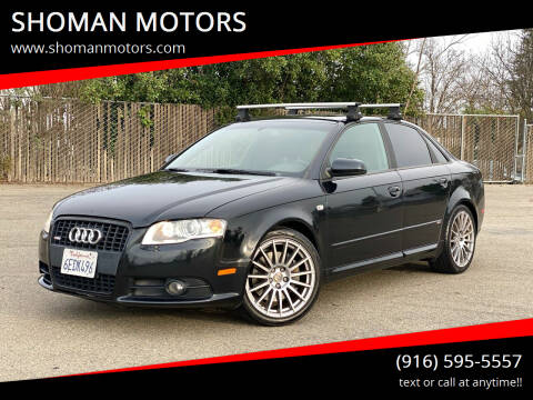 2008 Audi A4 for sale at SHOMAN MOTORS in Davis CA